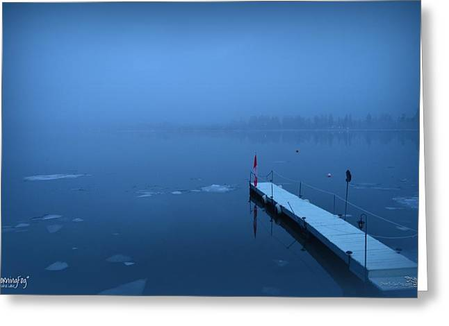 Morning Fog 002 - Skaha Lake 03-06-2014 Greeting Card
