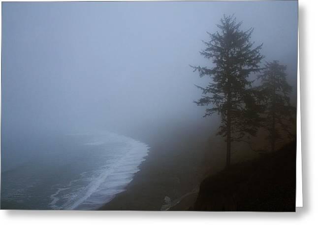 Morning Fog At Agate Beach Greeting Card by Robert Woodward