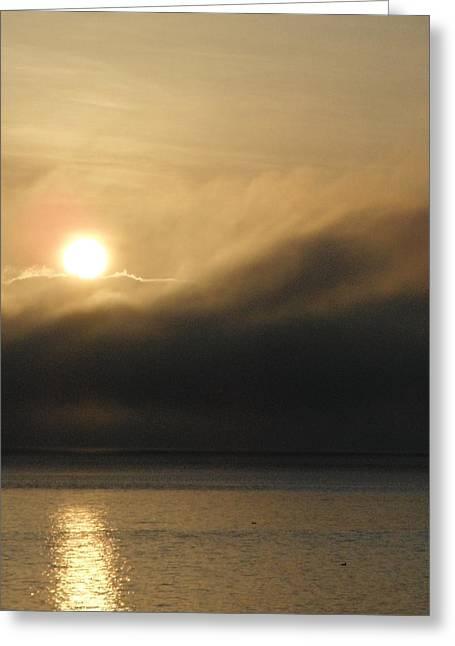 Morning Fog Greeting Card by A Cyaltsa Finkbonner