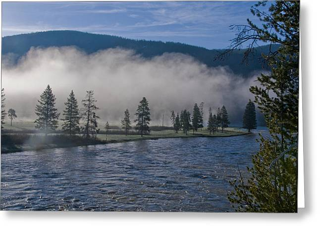 Morning Fog On The River Greeting Card