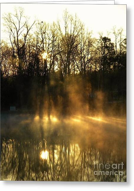 Morning Fog Rising Greeting Card