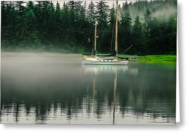 Morning Fog Greeting Card by Robert Bales