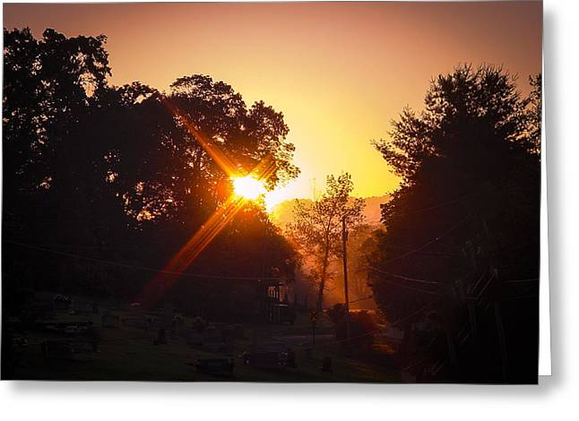 Morning Glare Greeting Card by Robert J Andler