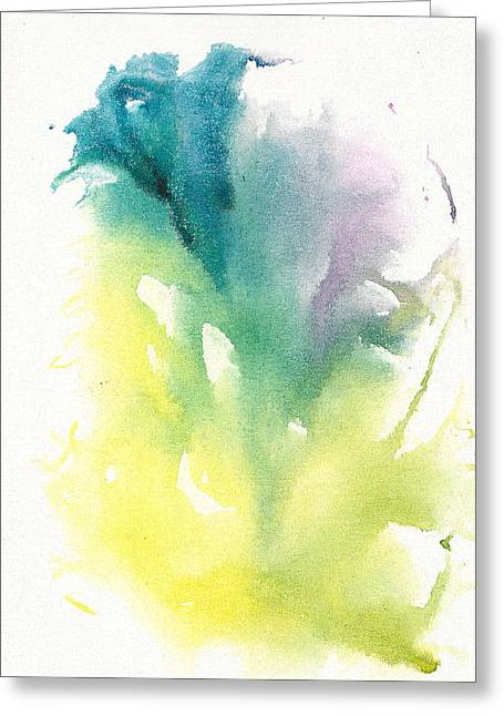 Greeting Card featuring the painting Morning Glory Abstract by Frank Bright
