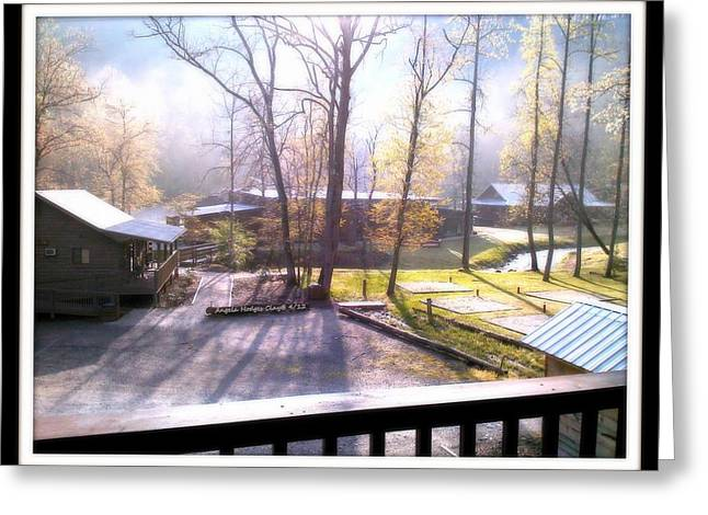 Greeting Card featuring the digital art Morning Glory At Ironhorse Resort by Angelia Hodges Clay