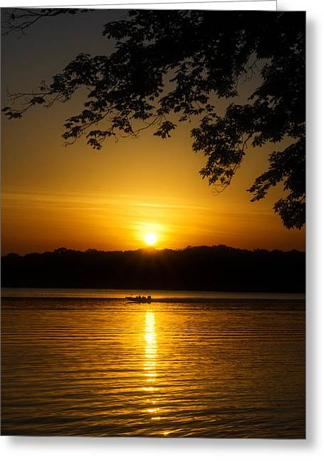 Morning Glow Greeting Card by Dan Holland