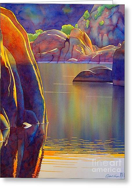 Morning Glow Greeting Card by Robert Hooper