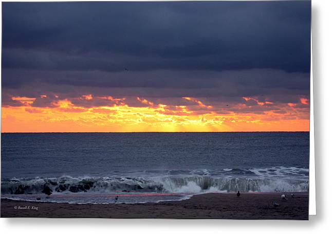 Morning Glow Greeting Card by Russell  King