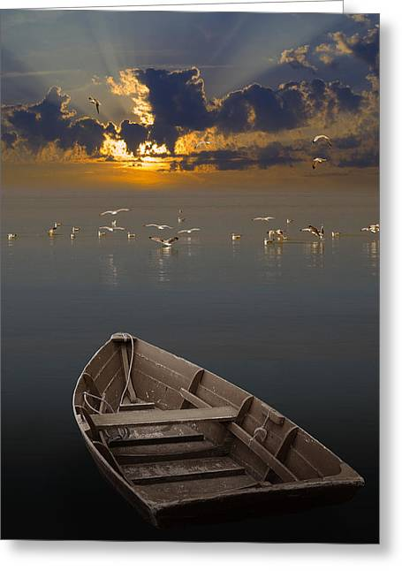 Morning Has Broken Like The First Morning Greeting Card by Randall Nyhof