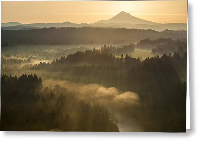 Morning Has Broken Greeting Card by Lori Grimmett