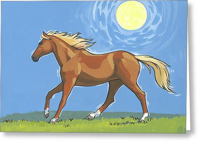 Morning Horse Greeting Card by Tracie Thompson