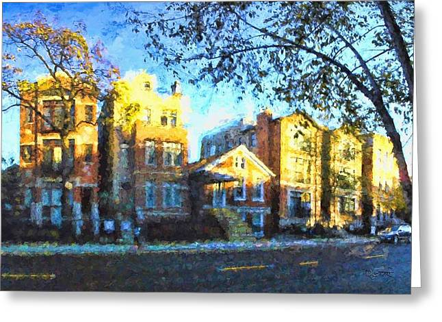 Morning In Bucktown Greeting Card by Dave Luebbert