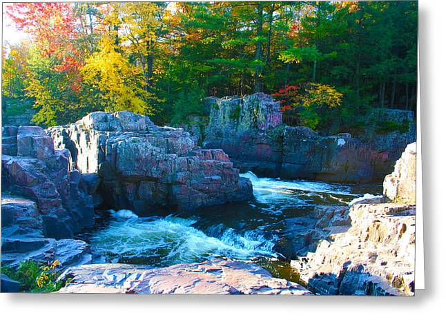 Morning In Eau Claire Dells Greeting Card