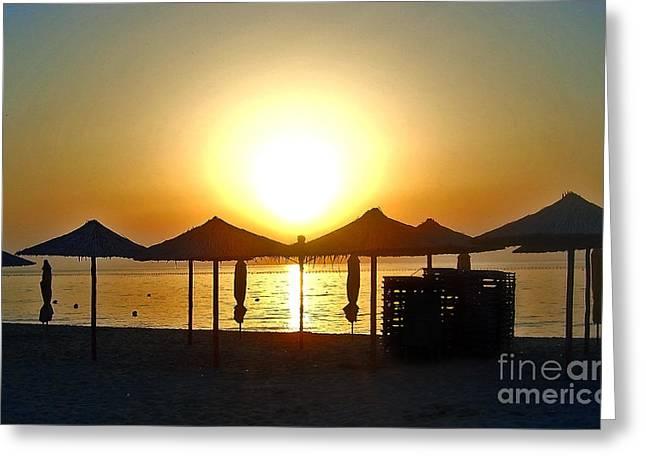 Morning In Greece Greeting Card