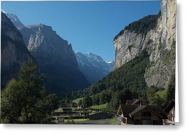 Morning In Lauterbrunnen Greeting Card