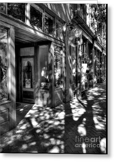 Morning In Paducah Bw Greeting Card by Mel Steinhauer
