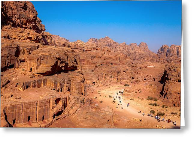 Morning In Petra Greeting Card by Alexey Stiop