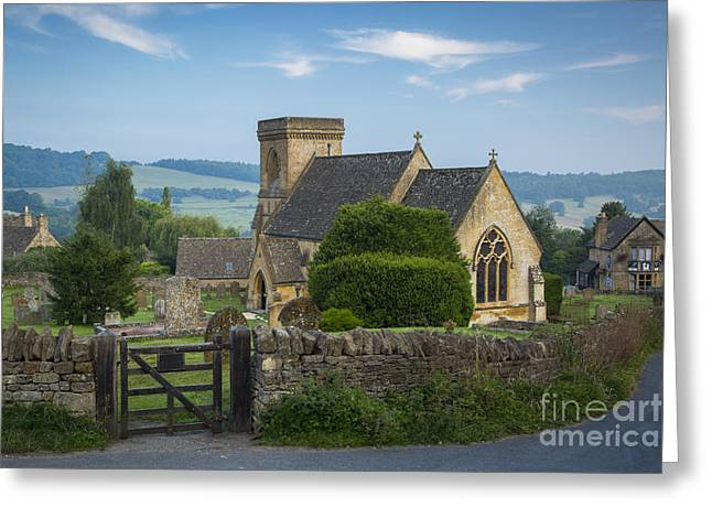 Morning In Snowshill Greeting Card