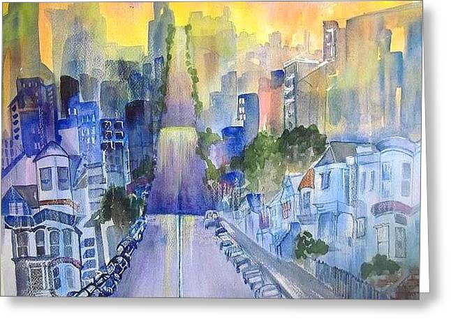 Morning In The City Greeting Card