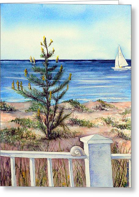 Morning In The Hamptons Greeting Card