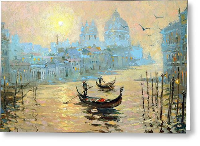 Morning In Venice Greeting Card
