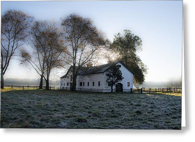 Morning In Whitemarsh - Widener Farms Greeting Card by Bill Cannon