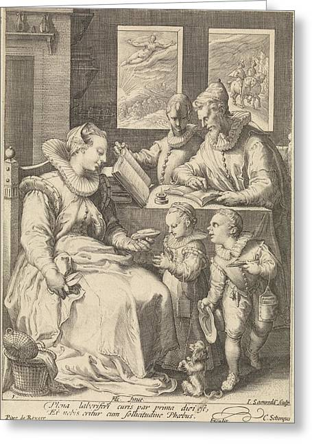 Morning, Jan Saenredam, Cornelius Schonaeus Greeting Card by Jan Saenredam And Cornelius Schonaeus And Pieter De Reyger