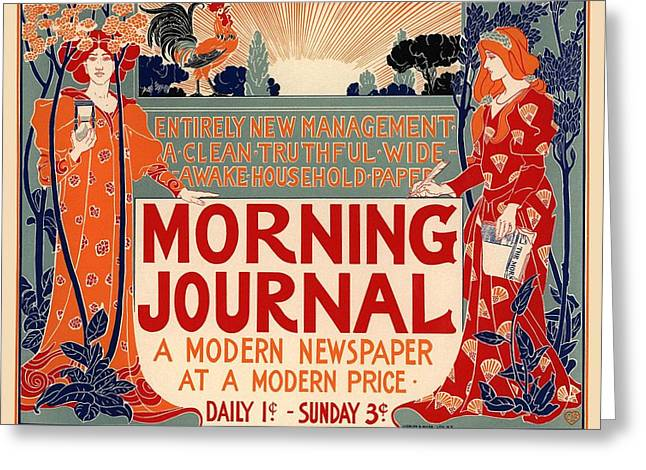 Morning Journal Greeting Card by Gianfranco Weiss