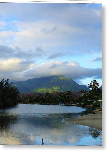 Morning  Kailua Town Greeting Card