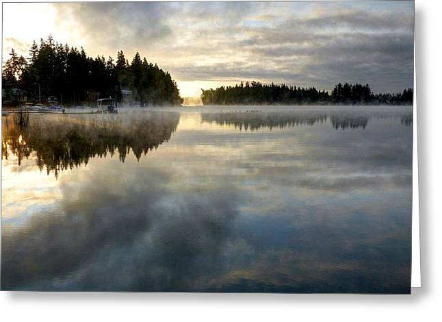 Morning Lake Reflection Greeting Card