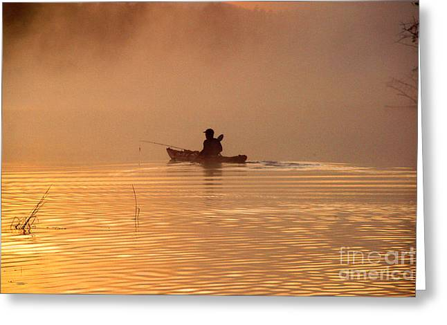Morning Launch Greeting Card by Butch Lombardi