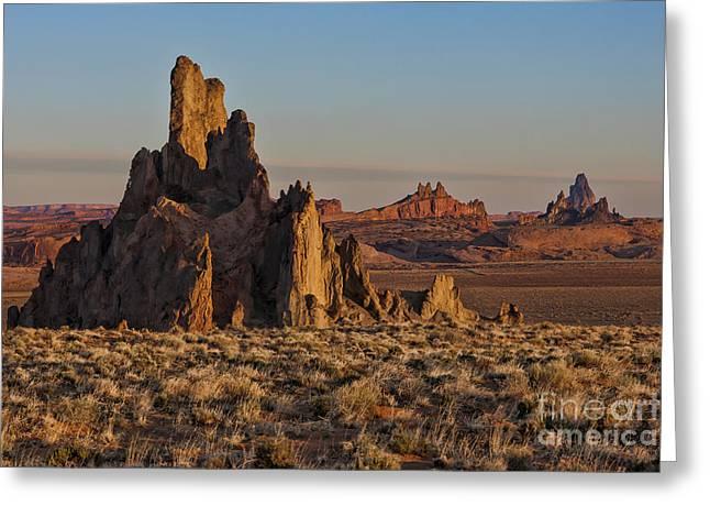 Morning Light At Church Rock Greeting Card by Sandra Bronstein