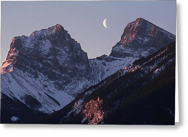 Morning Light Canmore Greeting Card by Richard Berry