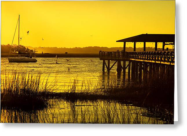 Morning Light On Isle Of Hope Greeting Card by Diana Powell