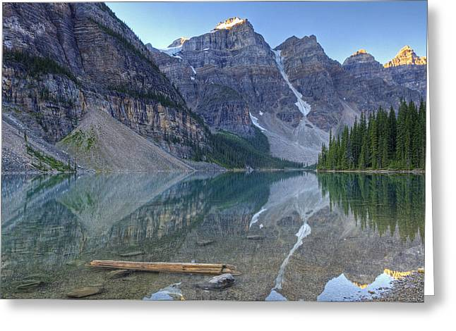 Morning Light On Moraine Lake Greeting Card