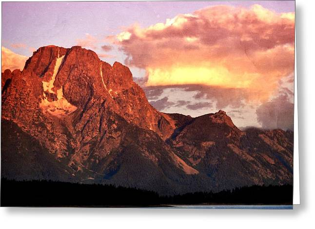 Morning Light On The Tetons Greeting Card by Marty Koch