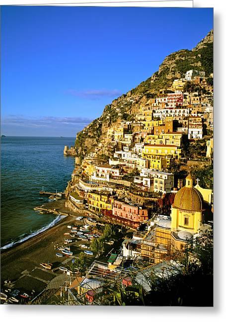 Morning Light Positano Italy Greeting Card
