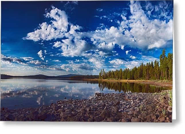 Morning Magic On Howard Prairie Lake Greeting Card by Omaste Witkowski