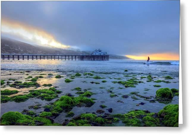 Morning Malibu Surf Greeting Card