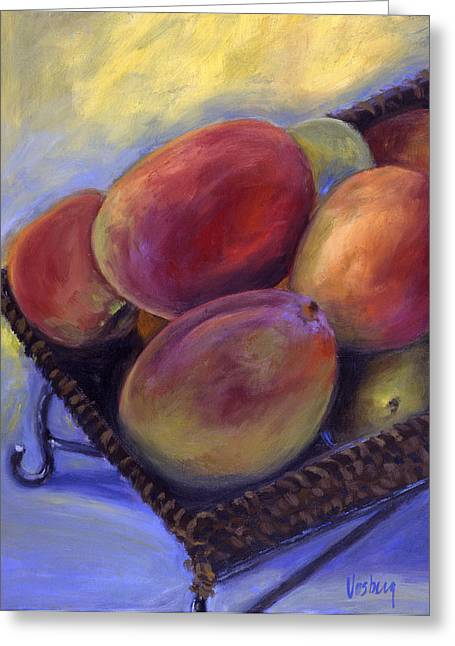 Morning Mangos Greeting Card by Stacy Vosberg