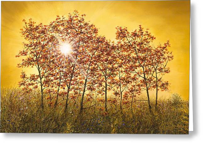 Morning Maples Greeting Card by Doug Kreuger