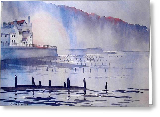 Morning Mist At Sandsend Greeting Card
