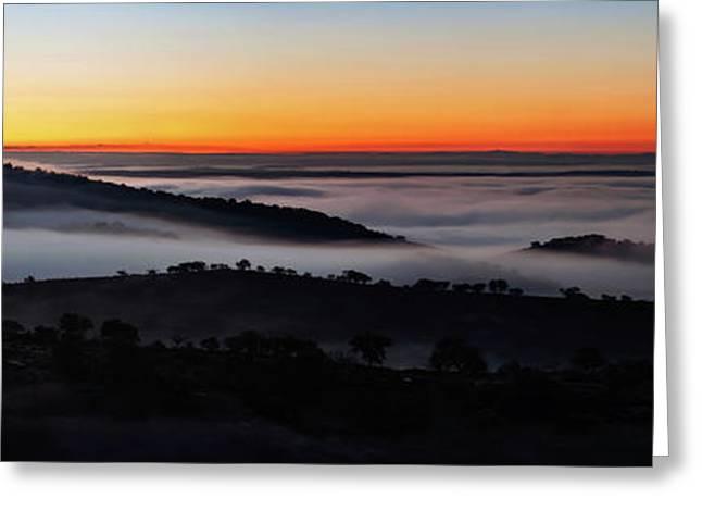 Morning Mist Greeting Card by Babak Tafreshi