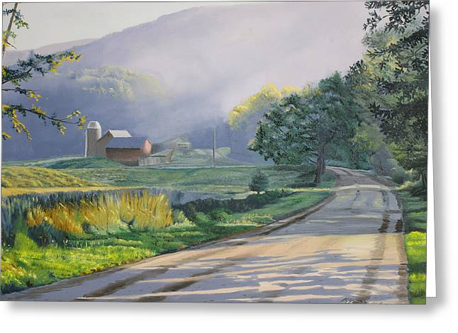 Morning Mist Greeting Card by Kenneth Young