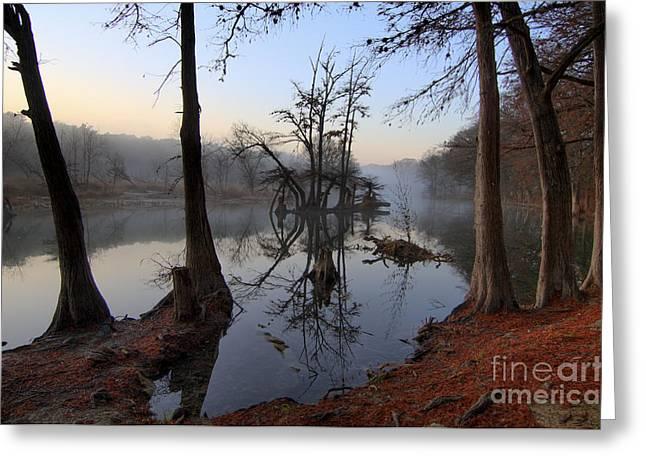 Morning Mist On The Blanco Greeting Card by Richard Mason