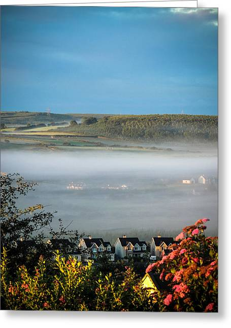 Morning Mist Over Lissycasey Greeting Card