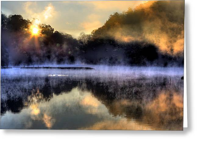 Morning Mist Greeting Card by Steve Parr