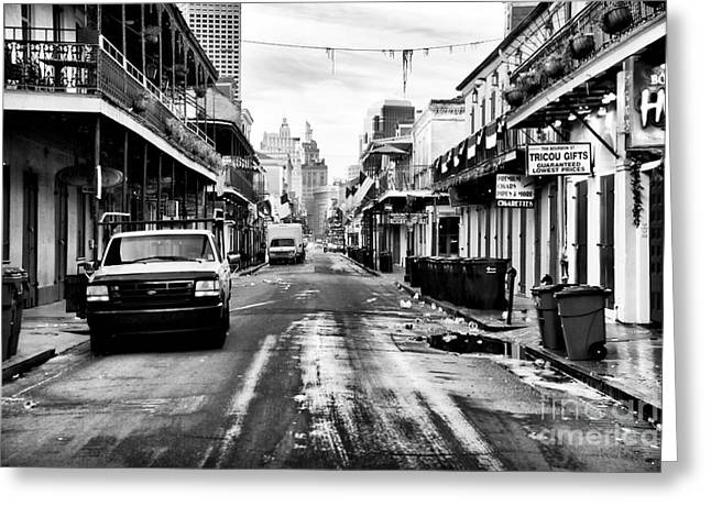 Morning On Bourbon Street Greeting Card
