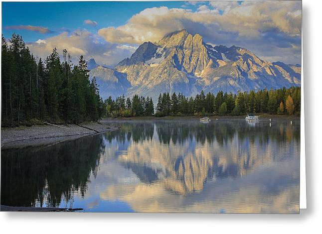 Morning On Colter Bay Greeting Card by Michael Schwartz