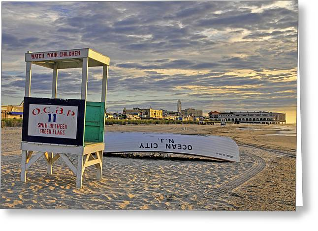Morning On The Beach Greeting Card by Dan Myers
